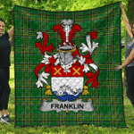 1stScotland Premium Quilt - Franklin Irish Family Crest Quilt - Irish National Tartan A7