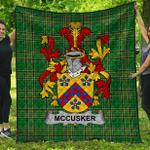1stScotland Premium Quilt - Mccusker Or Cosker Irish Family Crest Quilt - Irish National Tartan A7
