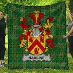 1stScotland Premium Quilt - Hamline Irish Family Crest Quilt - Irish National Tartan A7