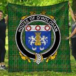 1stScotland Premium Quilt - House Of O'Holohan Irish Family Crest Quilt - Irish National Tartan A7