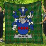 1stScotland Premium Quilt - Bareth Irish Family Crest Quilt - Irish National Tartan A7