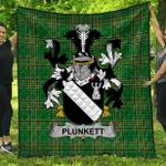 1stScotland Premium Quilt - Plunkett Irish Family Crest Quilt - Irish National Tartan A7