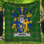 1stScotland Premium Quilt - Orpen Irish Family Crest Quilt - Irish National Tartan A7