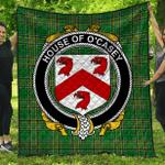 1stScotland Premium Quilt - House Of O'Casey Irish Family Crest Quilt - Irish National Tartan A7