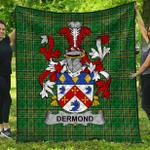 1stScotland Premium Quilt - Dermond Or O'Dermond Irish Family Crest Quilt - Irish National Tartan A7