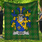 1stScotland Premium Quilt - Shea Or O'Shee Irish Family Crest Quilt - Irish National Tartan A7