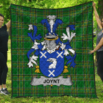 1stScotland Premium Quilt - Joynt Irish Family Crest Quilt - Irish National Tartan A7