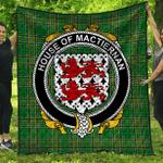 1stScotland Premium Quilt - House Of Mactiernan Irish Family Crest Quilt - Irish National Tartan A7