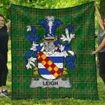 1stScotland Premium Quilt - Leigh Or Mclaeghis Irish Family Crest Quilt - Irish National Tartan A7