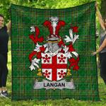 1stScotland Premium Quilt - Langan Or O'Longan Irish Family Crest Quilt - Irish National Tartan A7