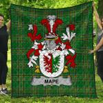 1stScotland Premium Quilt - Mape Irish Family Crest Quilt - Irish National Tartan A7