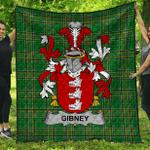 1stScotland Premium Quilt - Gibney Or O'Gibney Irish Family Crest Quilt - Irish National Tartan A7