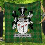 1stScotland Premium Quilt - Mcalindon Or Mcalindem Irish Family Crest Quilt - Irish National Tartan A7