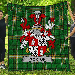 1stScotland Premium Quilt - Morton Irish Family Crest Quilt - Irish National Tartan A7