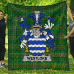 1stScotland Premium Quilt - Westloke Or Westlock Irish Family Crest Quilt - Irish National Tartan A7