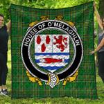 1stScotland Premium Quilt - House Of O'Melaghlin Irish Family Crest Quilt - Irish National Tartan A7