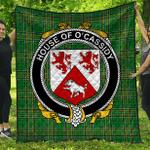 1stScotland Premium Quilt - House Of O'Cassidy Irish Family Crest Quilt - Irish National Tartan A7