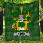 1stScotland Premium Quilt - Rothe Irish Family Crest Quilt - Irish National Tartan A7