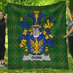 1stScotland Premium Quilt - Dunn Or O'Dunn Irish Family Crest Quilt - Irish National Tartan A7