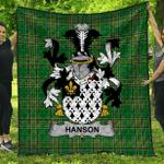 1stScotland Premium Quilt - Hanson Or O'Hanson Irish Family Crest Quilt - Irish National Tartan A7