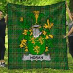 1stScotland Premium Quilt - Horan Or O'Horan Irish Family Crest Quilt - Irish National Tartan A7