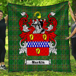 1stScotland Premium Quilt - Mackin Irish Family Crest Quilt - Irish National Tartan A7