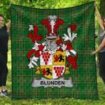 1stScotland Premium Quilt - Blunden Irish Family Crest Quilt - Irish National Tartan A7