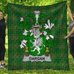 1stScotland Premium Quilt - Dargan Or Mcdeargan Irish Family Crest Quilt - Irish National Tartan A7