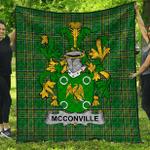 1stScotland Premium Quilt - Mcconville Irish Family Crest Quilt - Irish National Tartan A7