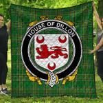 1stScotland Premium Quilt - House Of Dillon Irish Family Crest Quilt - Irish National Tartan A7