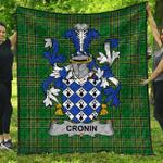 1stScotland Premium Quilt - Cronin Or O'Cronin Irish Family Crest Quilt - Irish National Tartan A7