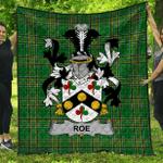 1stScotland Premium Quilt - Roe Irish Family Crest Quilt - Irish National Tartan A7