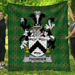 1stScotland Premium Quilt - Thunder Irish Family Crest Quilt - Irish National Tartan A7