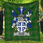 1stScotland Premium Quilt - Olde Irish Family Crest Quilt - Irish National Tartan A7