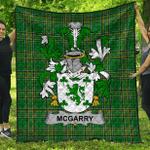 1stScotland Premium Quilt - Mcgarry Or Garry Irish Family Crest Quilt - Irish National Tartan A7