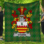 1stScotland Premium Quilt - Hare Or O'Hare Irish Family Crest Quilt - Irish National Tartan A7