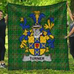 1stScotland Premium Quilt - Turner Irish Family Crest Quilt - Irish National Tartan A7