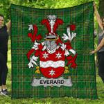 1stScotland Premium Quilt - Everard Irish Family Crest Quilt - Irish National Tartan A7