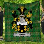 1stScotland Premium Quilt - Nixon Irish Family Crest Quilt - Irish National Tartan A7