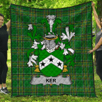 1stScotland Premium Quilt - Ker Irish Family Crest Quilt - Irish National Tartan A7