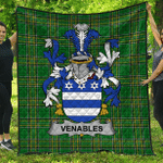1stScotland Premium Quilt - Venables Irish Family Crest Quilt - Irish National Tartan A7