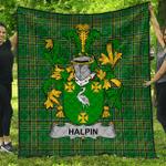 1stScotland Premium Quilt - Halpin Or O'Halpin Irish Family Crest Quilt - Irish National Tartan A7