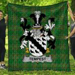 1stScotland Premium Quilt - Tempest Irish Family Crest Quilt - Irish National Tartan A7