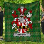 1stScotland Premium Quilt - Murphy (Muskerry) Irish Family Crest Quilt - Irish National Tartan A7
