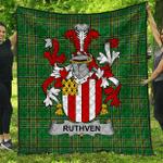 1stScotland Premium Quilt - Ruthven Irish Family Crest Quilt - Irish National Tartan A7