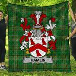 1stScotland Premium Quilt - Hamlin Or O'Hamlin Irish Family Crest Quilt - Irish National Tartan A7
