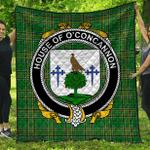 1stScotland Premium Quilt - House Of O'Concannon Irish Family Crest Quilt - Irish National Tartan A7