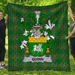 1stScotland Premium Quilt - Quinn Or O'Quin Irish Family Crest Quilt - Irish National Tartan A7
