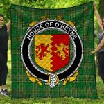 1stScotland Premium Quilt - House Of O'Heyne Irish Family Crest Quilt - Irish National Tartan A7