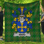 1stScotland Premium Quilt - Ward Irish Family Crest Quilt - Irish National Tartan A7